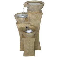 Navarro Cascading Bowls LED Outdoor Fountain