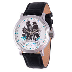 Disney Pirates of the Carribean Mens Black Strap Watch-Wds000369
