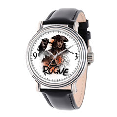 Disney Pirates of the Carribean Mens Black Strap Watch-Wds000370