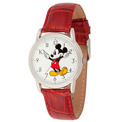 Disney Mickey Mouse Mens Purple Strap Watch-Wds000402