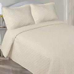 LCM Home Fashions Microfiber Pinsonic Quilt Set