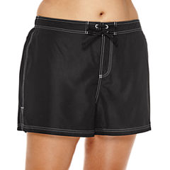 ZeroXposur® Woven Swim-Bottom Board Shorts - Plus