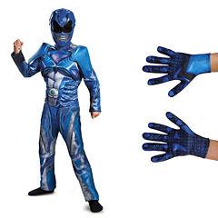 Power Rangers Movie Blue Ranger Children's ClassicMuscle Costume Kit