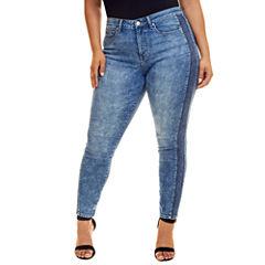 Fashion To Figure Indigo Side Panel Skinny Jeans - Plus