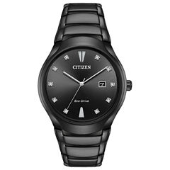 Citizen Mens Black Bracelet Watch-Aw1555-56g