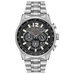 Citizen Mens Silver Tone Strap Watch-Ca4370-52e
