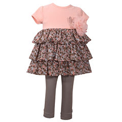 Bonnie Jean 2-pc. Legging Set-Baby Girls