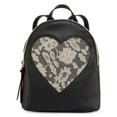 Front Lace Heart Backpack
