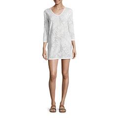 Porto Cruz Pattern Jacquard Swimsuit Cover-Up Dress