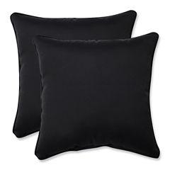 Pillow Perfect Fresco Square Outdoor Pillow - Setof 2