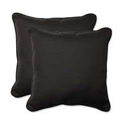 Pillow Perfect Tweed Square Outdoor Pillow - Set of 2