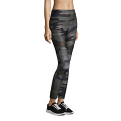 Xersion High Rise 7/8 Printed Mesh Inset Legging