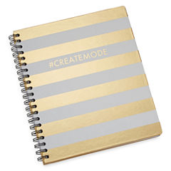 Mixit Gold Stripe Spiral Journal