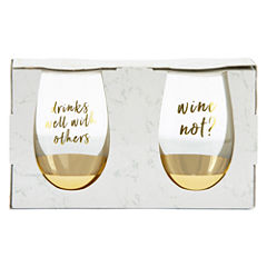 Mixit Black and White 2-pc Drinkware Set