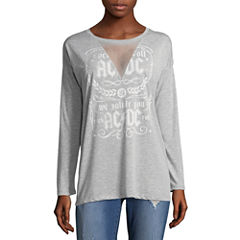 Long Sleeve V Neck Graphic T-Shirt