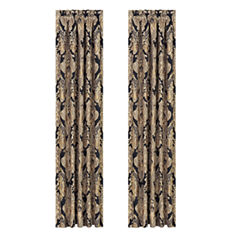 Queen Street Brooke Rod-Pocket Curtain Panel