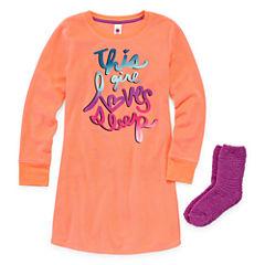 Total Girl Long Sleeve Nightgown-Big Kid Girls