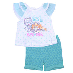 2-pc. Paw Patrol Short Set-Infant Girls