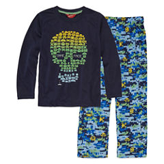 Arizona 2-pc.Skull Print Pajama Set Boys