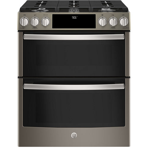 GE Profile™ Series 30 Slide-In Front Control Gas Double Oven Convection Range