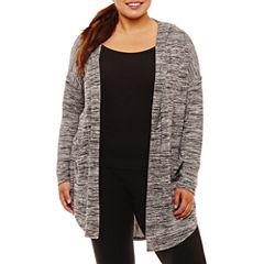 Xersion Long Sleeve Knit Hoodie Plus