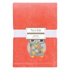 Trend Lab Olive Owl Plush 1 Pair Receiving Blanket