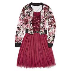 Knit Works Belted Sleeveless Skater Dress - Big Kid Girls