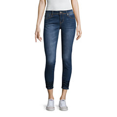 Hydraulic Bow Zip Curvy Fit Cropped Jeans-Juniors