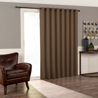 eclipse tricia patio door room darkening grommettop door panel curtain - Door Panel Curtains