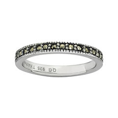 Personally Stackable Marcasite Sterling Silver Stackable Infinite Ring