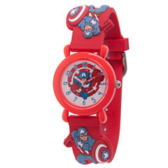 Avengers Boys Red Strap Watch-Wma000159