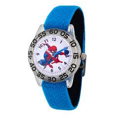 Spiderman Boys Blue Strap Watch-Wma000173