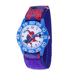Spiderman Boys Blue Strap Watch-Wma000189