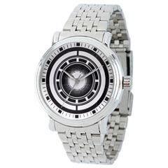 Avengers Mens Silver Tone Strap Watch-Wma000203