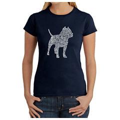 Los Angeles Pop Art Women's T-Shirt - Pitbull