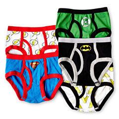 Justice League 5-pk. Briefs - Boys 4-8