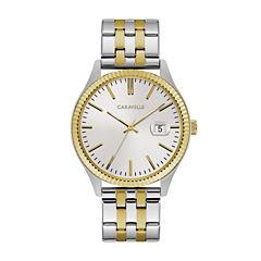 Caravelle Mens Two Tone Bracelet Watch-45b148