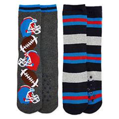 Sports Fan 2 Pack Slipper Socks - Boys 4-20