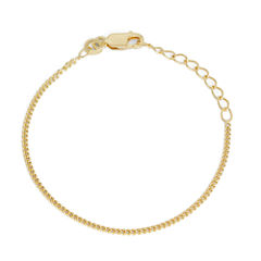 Children's 14K Yellow Gold Over Silver Curb Chain Bracelet