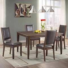 Dining Possibilities 5-Piece Dining Set with Upholstered Chairs