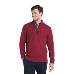 IZOD Newport Quarter Zip Sweater Long Sleeve Pullover Sweater