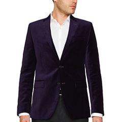 JF J.Ferrar® Slim Fit Velvet Sport Coat