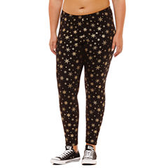 Flirtitude Jersey Leggings-Juniors Plus