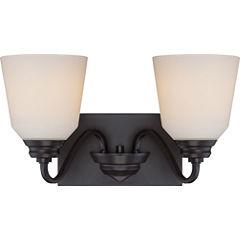 Filament Design 2-Light Mahogany Bronze Bath Vanity