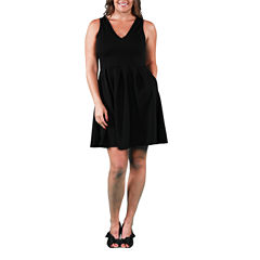 24/7 Comfort Apparel Sleeveless Fit & Flare Dress-Plus