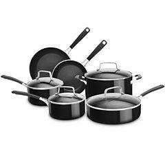 KitchenAid® 10-pc. Aluminum Nonstick Cookware Set KC2AS10OB