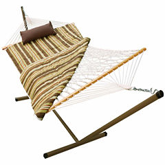 Cotton Rope With Stand 4-Pc. Set Hammock