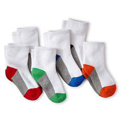 Okie Dokie® 6-pk. Low-Cut Cushioned Socks - Boys
