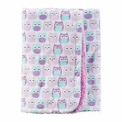 Carter's Girl Purple Owl Plush Blanket