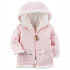Carter's Flannel Midweight Softshell Jacket-Baby Girls